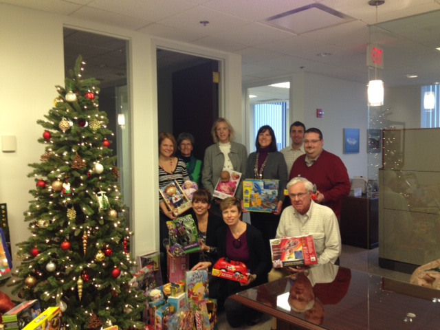 Toys For Tots Mission Statement : Bay colony staff contribute to toys for tots with a